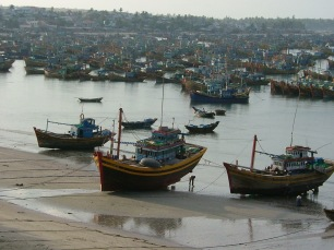 Gaggle of fishing boats