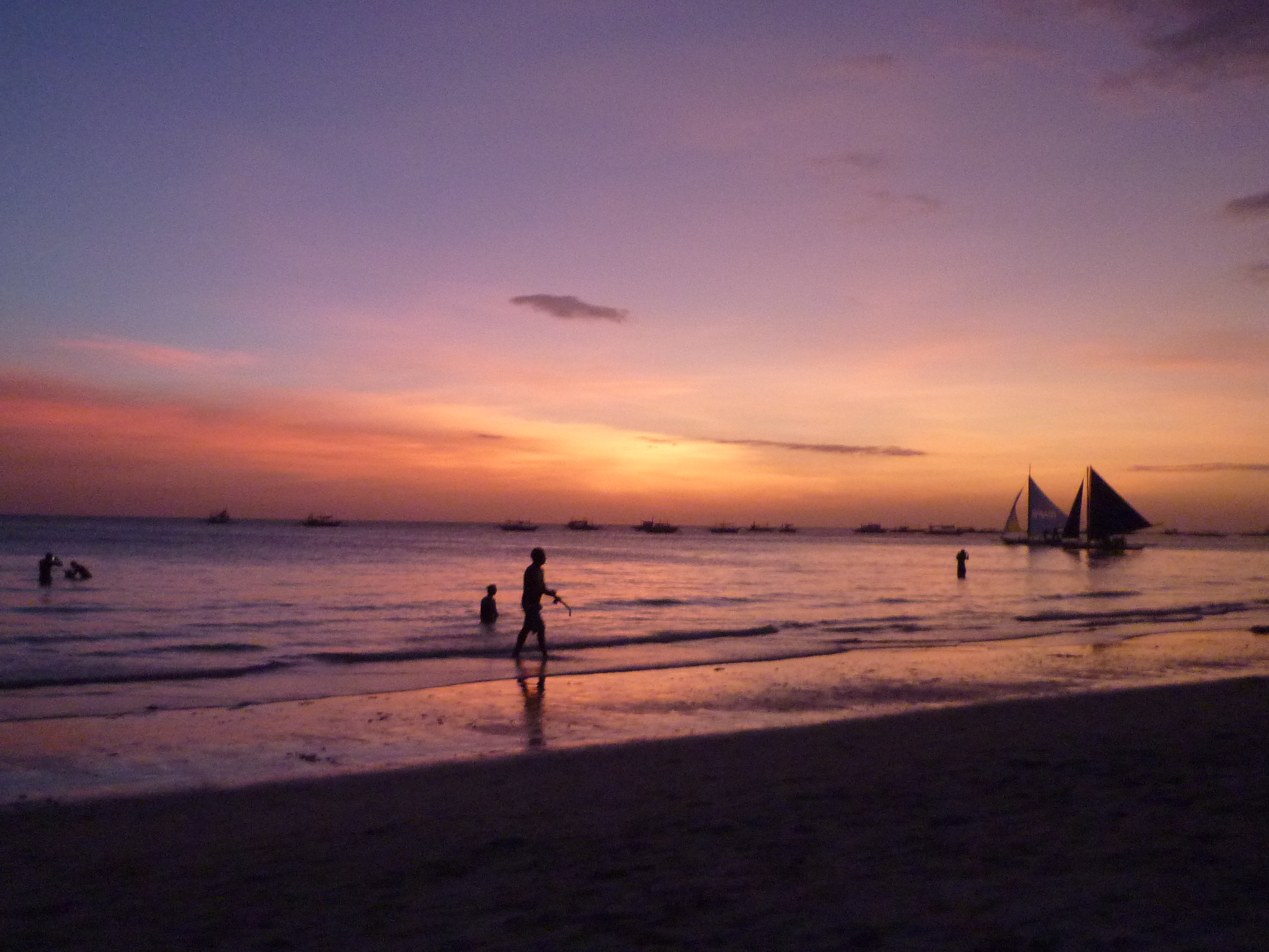 The White Sands Of Boracay Island Philippines Asia