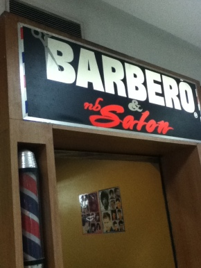 The 4th floor barber in WalterMart, Makati