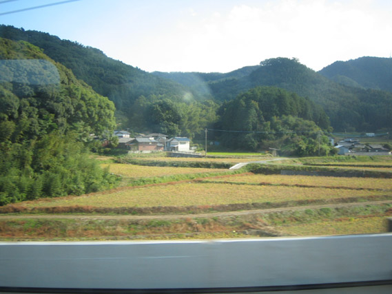 Kyushu scenery from the train