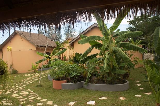 The bungalows at Secret Garden at Otres