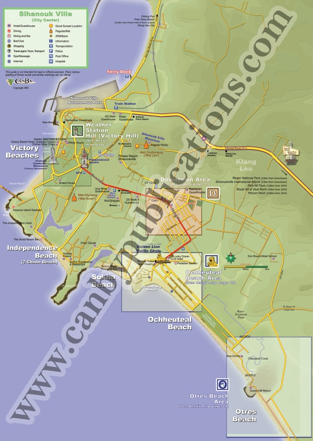 Sihanoukville beaches and town
