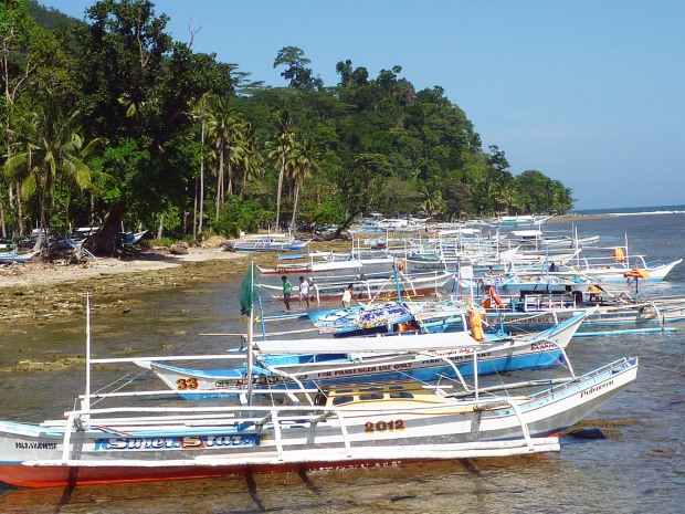 The port at Sabang on the mainland. These are the ferry boats.
