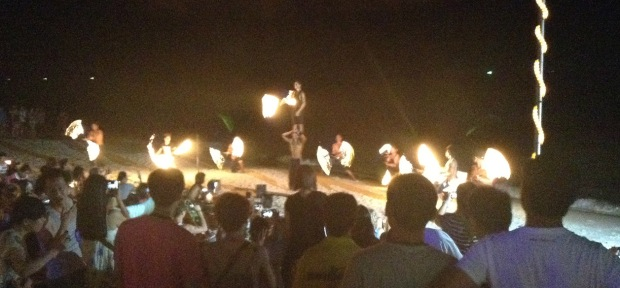 The fireshow at Ploy Talay on Koh Samet