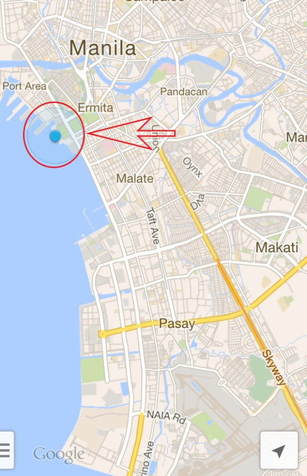 Manila Ocean Park location map