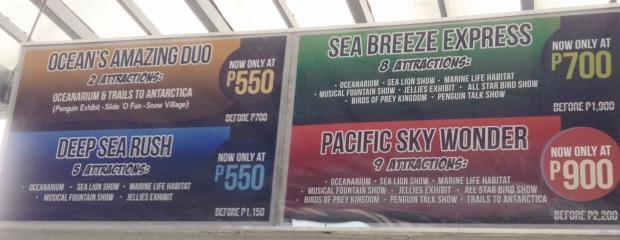 Manila Ocean Park Pricing