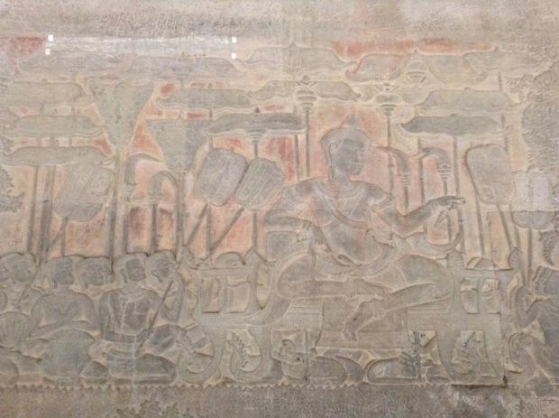 Bas relief king Angkor Wat