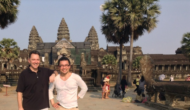 Mike and Okkun at Angkor Wat