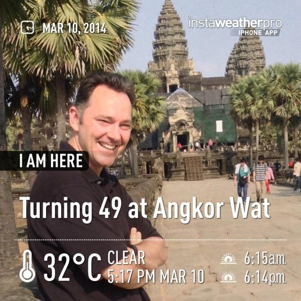 Turning 49 at Angkor Wat
