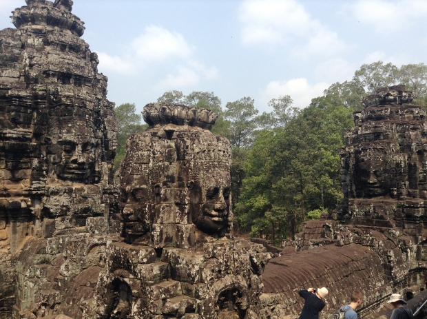A wide view of the faces