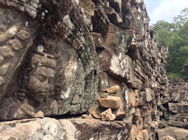 There were even faces in the rubble, which is piled neatly around the temple