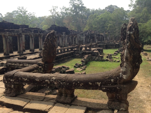 The back courtyard at Bayon