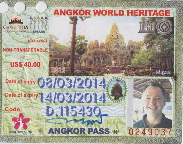 $40 is a small price to pay for 3 days at Angkor!