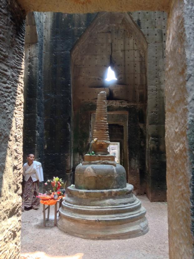 A Buddhist-style stupa