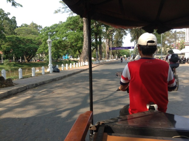 Take a tuk-tuk from Siem Reap to Angkor Park at least once.
