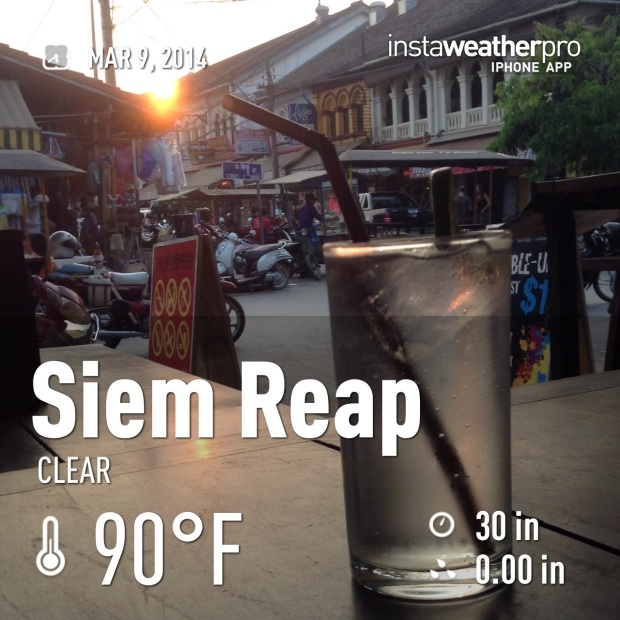 Happy Hour G&Ts at Siem Reap market area